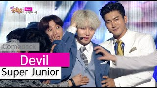 Gambar cover [Comeback Stage] Super Junior - Devil, 슈퍼주니어 - 데빌, Show Music core 20150718