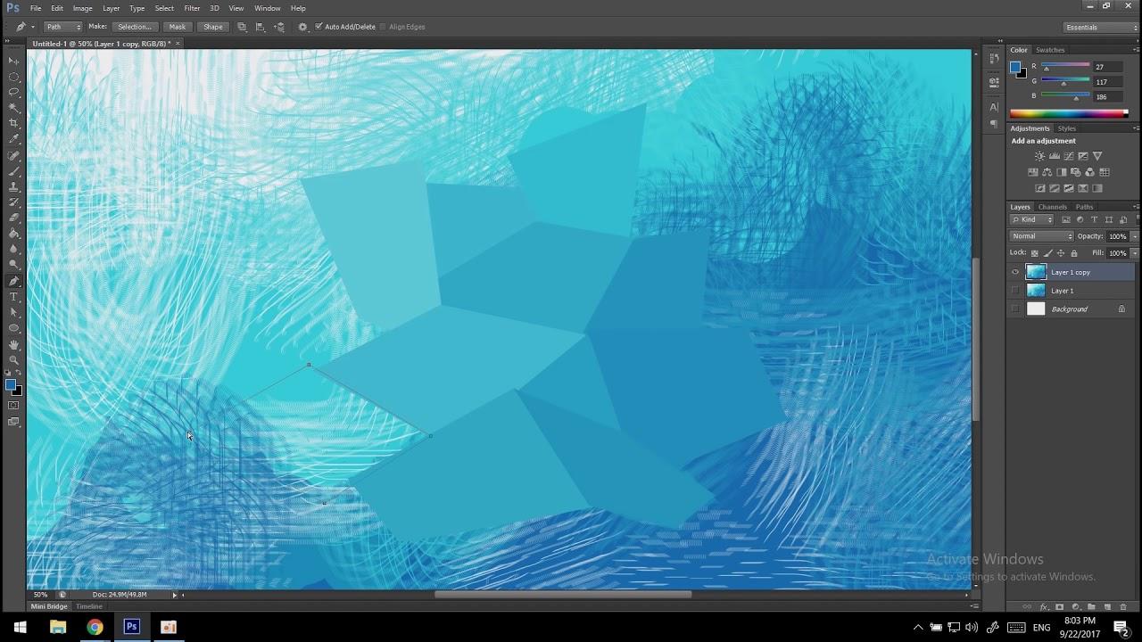 สอนทำ background ภาพพื้นหลัง ด้วยโปรเเกรม adobe photoshop cs6 By บุญทิ้ง