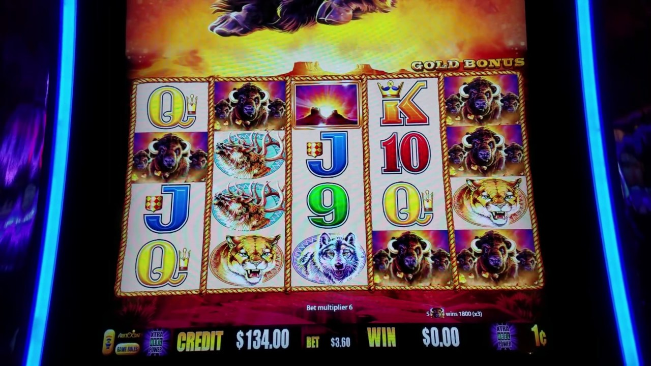 Buffalo Gold Slot Machine Bonus Win Max Bet Las