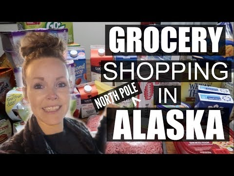GROCERY SHOPPING IN NORTH POLE ALASKA | GROCERY SHOPPING IN ALASKA |Somers In Alaska Vlogs