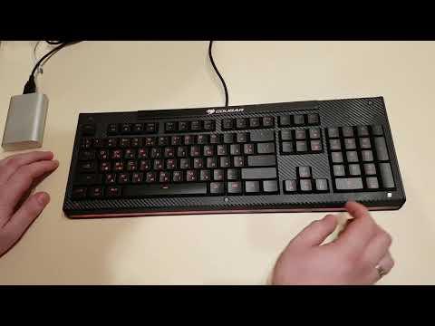 Клавіатура дротова Cougar Aurora S USB Black