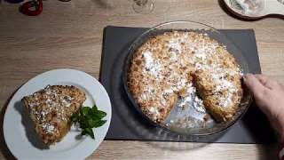 БЫСТРЫЙ пирог крошка с банано тыквеной начинкой