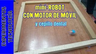 Juguete. Mini Robot con motor excéntrico de teléfono movil