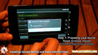 Use ArcTools to Install Android Market and Apps on your Archos (101/70/43/32/28) Internet Tablet