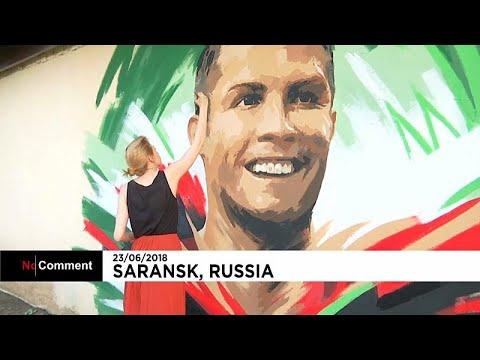 جدارية رونالدو تحيي البرتغال بسارانسك  - نشر قبل 2 ساعة