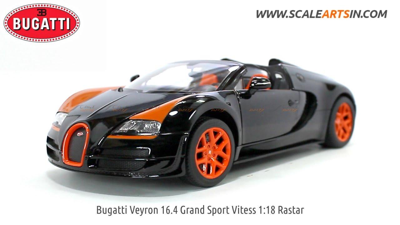 bugatti veyron 16.4 grand sport vitess 1:18 rastar black diecast