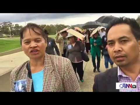 Cambodian Australian Protest in Canberra, 05 Dec 2017