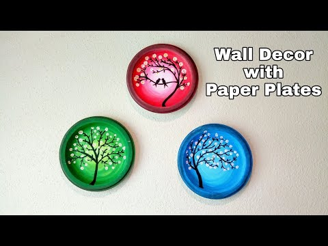 DIY Wall Decor | Simple Painting on Paper Plates