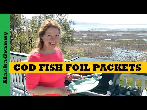 Chili Roasted Cod Foil Packets- Easy Grilled Fish Foil Packet