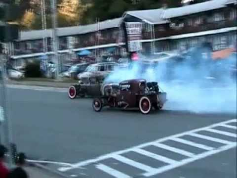Rat Rod Drag at lights Lake George 2011