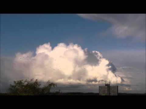 Bijzondere onweersbui met zware hagel en (beginnende) waterhoos