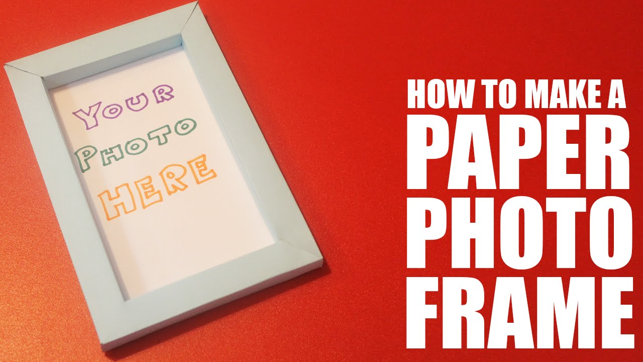 How to make a photo frame with paper - YouTube