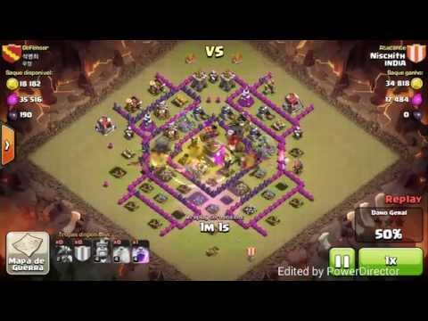 Th7 vs th8 with max ad dragons war attack strategy