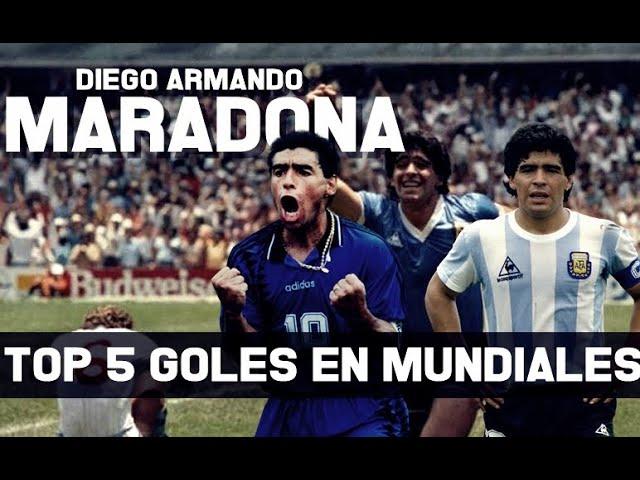 TOP 5 GOLES DE DIEGO MARADONA EN MUNDIALES
