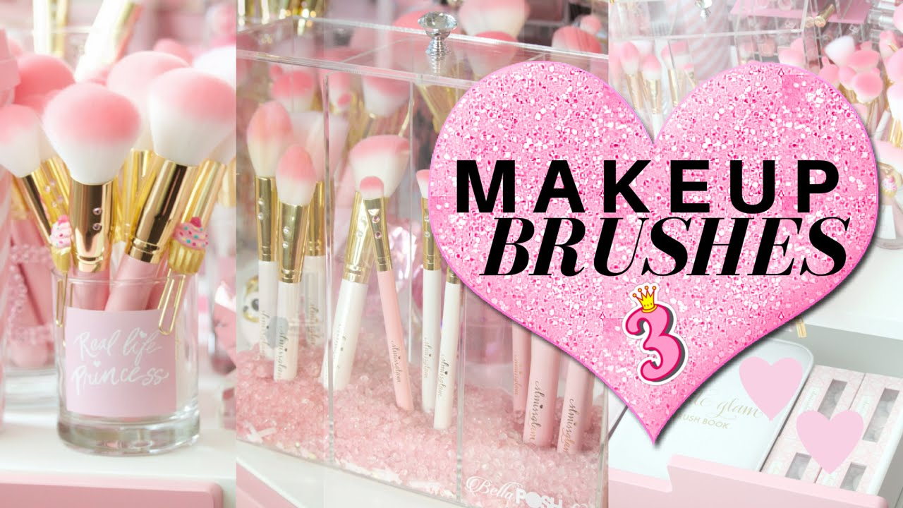 My Top 3 ways to store Makeup Brushes- SLMissGlam - YouTube