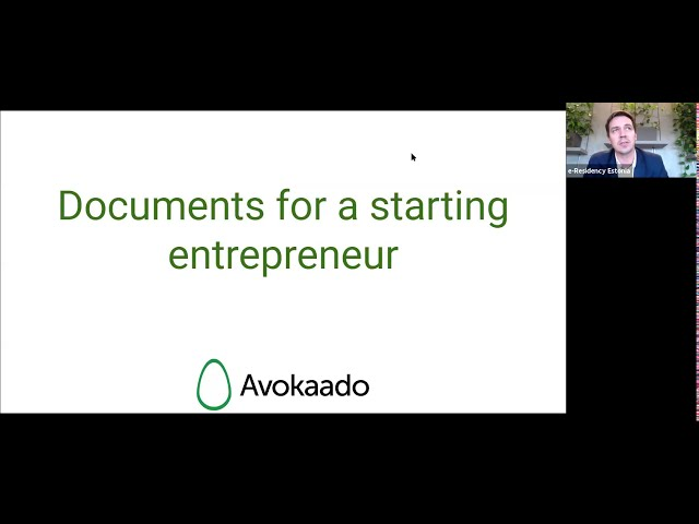 E-Residency webinar: Managing contracts for your business by Avokaado