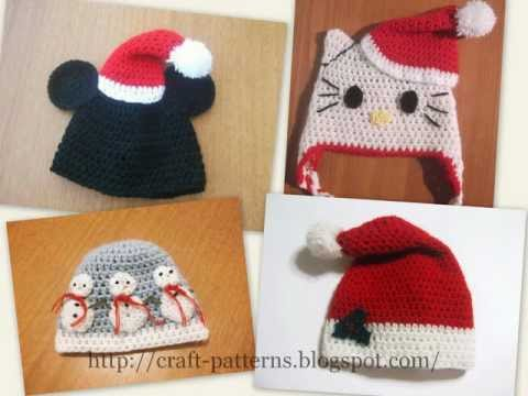 Christmas Hats Crochet Patterns Youtube