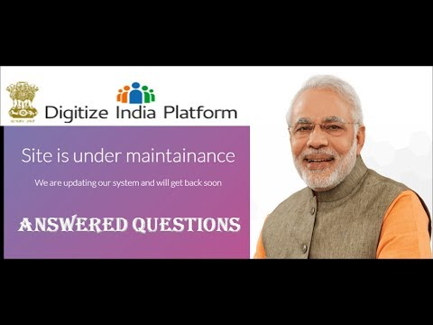 Digitize India Platform is Under Maintenance!