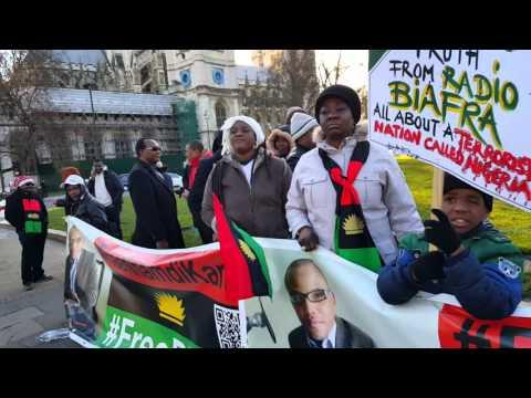 Biafra or death London  parliament square Uk .