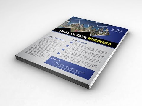 How To Design Modern Flyer 03 | Illustrator cc Tutorial thumbnail