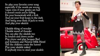 Amanda Palmer & The Grand Theft Orchestra - Ukulele Anthem (Lyric Video)