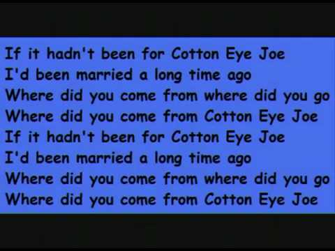 Cotton Eye Joe-Lyrics