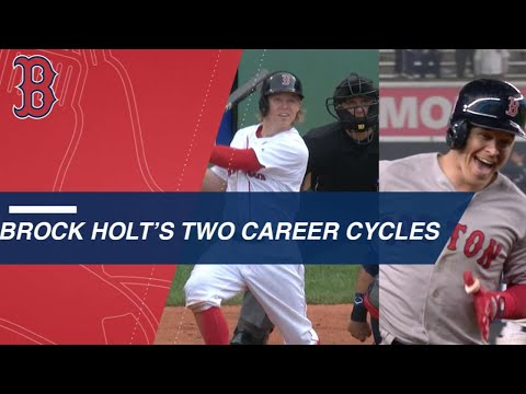Brock Holt goes for the cycle twice in career