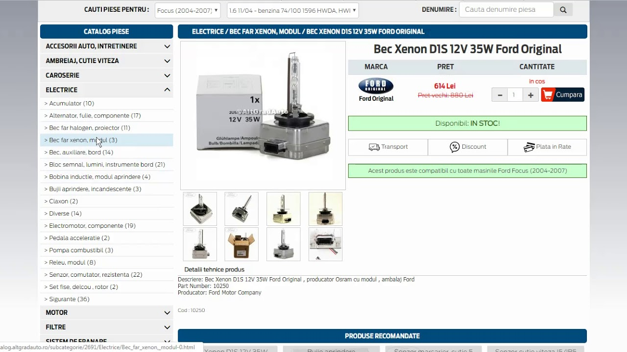 Altgradauto ro for online ford parts buying