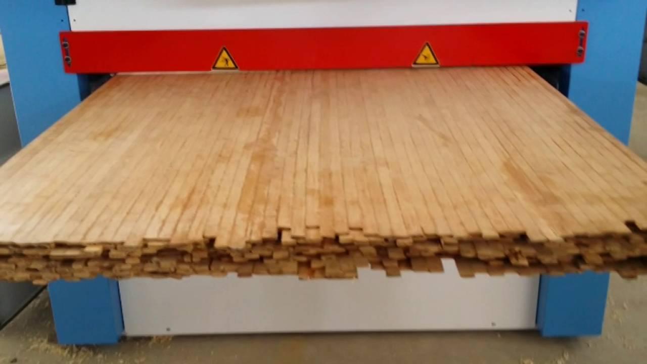 Bamboo laminated board planer and sander youtube