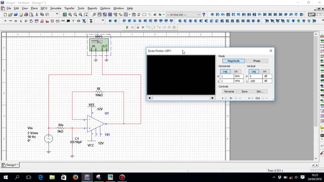 how to design a low pass filter in multisim