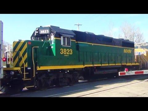 NHN Ex Conrail GP38-2 Engine on Big CSX Freight Train