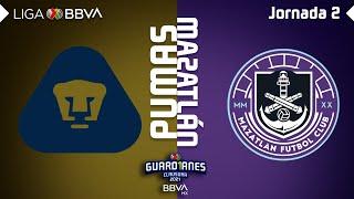 Resumen y Goles | Pumas vs Mazatlán | Liga BBVA MX - Guard1anes 2021 - Jornada 2