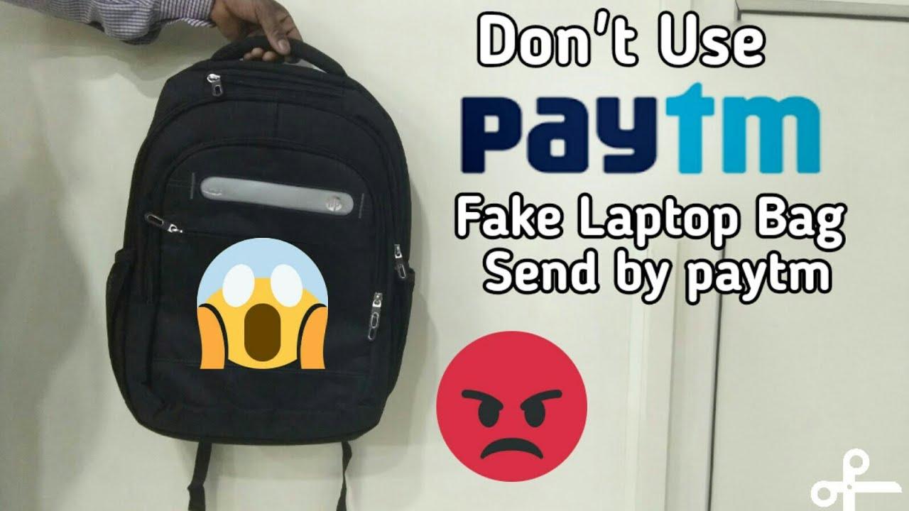 Fake / duplicate HP laptop bag send by paytm