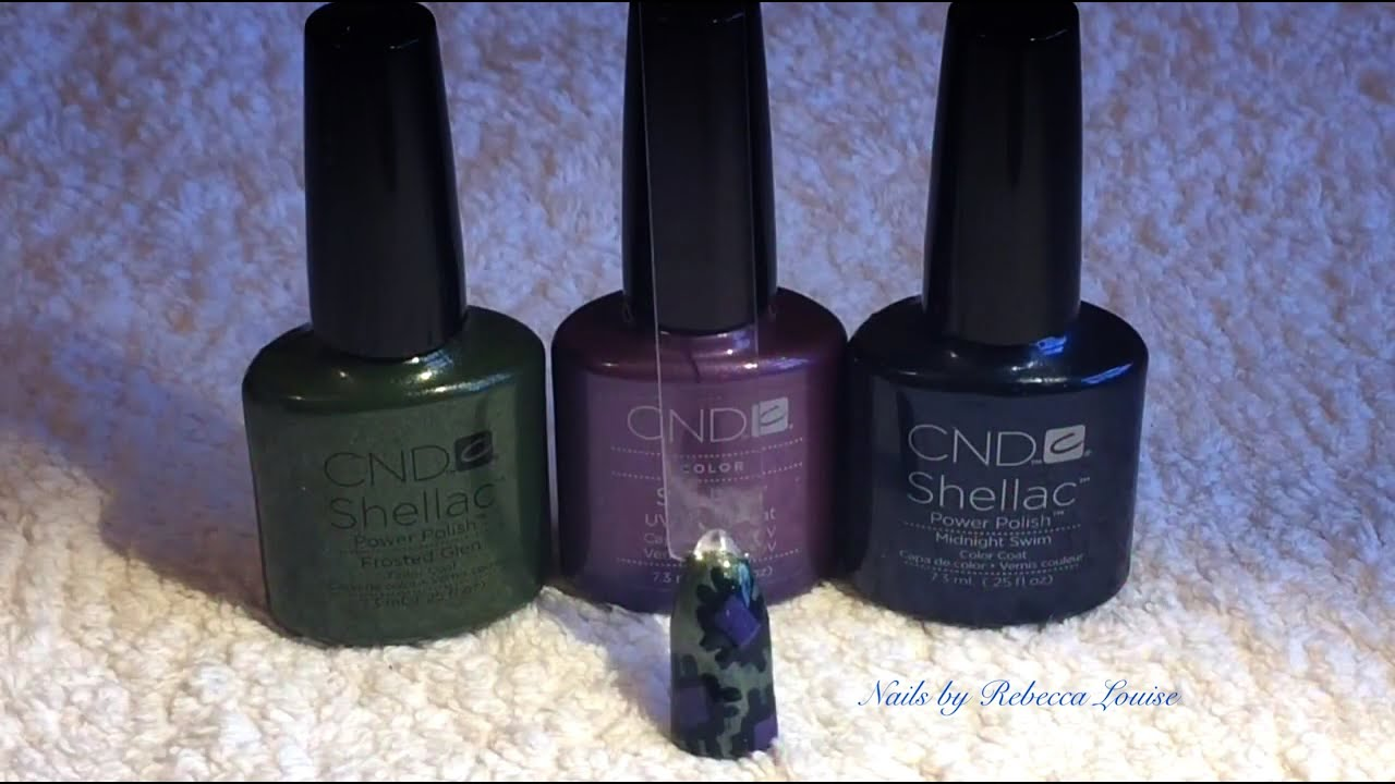 Halloween Nail Art Tutorial CND Shellac Patchwork Nails ...