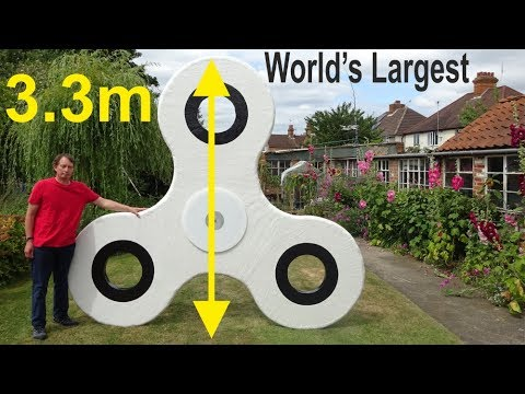 3.3m World's Largest Fidget Spinner (probably) by Tony Fisher, Unofficial World Record?