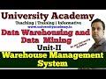 L13: Warehouse Management System  WMS   Extract, Load, Transform (ELT)