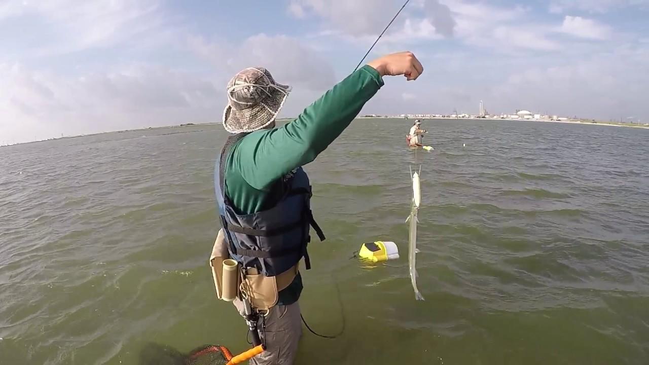 Texas city dike wade fishing 8 6 2017 youtube for Texas city fishing