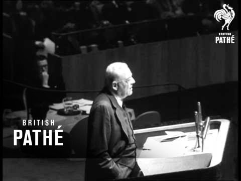 U.N. Meeting On Suez Canal And Israel - Egyptian War Reel 1 (1956)