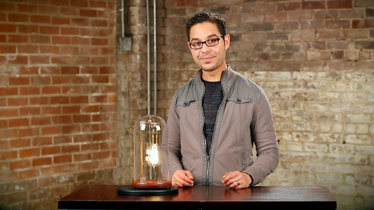 Edison bell jar table lamp youtube geotapseo Choice Image