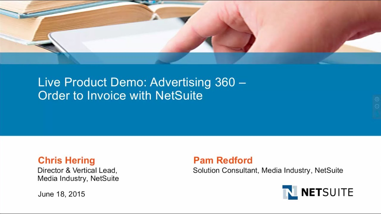 Live Webinar Advertising Order To Invoice With NetSuite For - Invoice 360