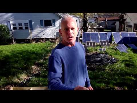 20 Solar Panels in the back yard