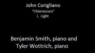 "John Corigliano, ""Chiaroscuro"" for two pianos-- Benjamin Smith and Tyler Wottrich, pianos"