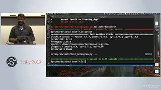 Testing your Python Code with PyTest | Scipy 2019 Tutorial | John Leeman,  Ryan May