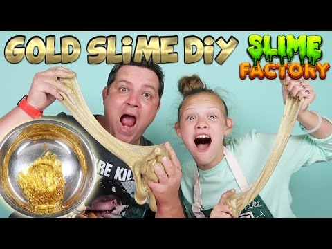 GOLD SLIME DIY Slime Factory Make Your Own Slime Without Borax - 동영상