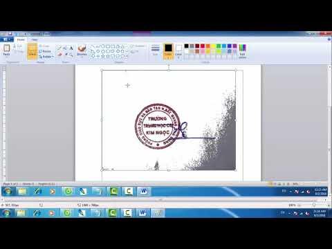 Hướng dẫn tạo chữ ký số-  tách nền cho chữ ký và con dấu