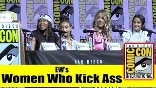 EW's WOMEN WHO KICK ASS | Comic Con 2018 Full Panel (Chloe Bennet, Regina King, Jodie Whittaker)