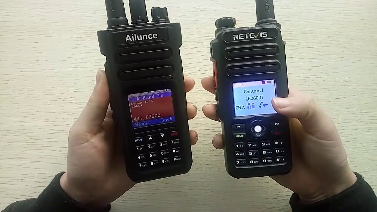 The Ailunce HD1 Double slot & Retevis RT82 DCDM