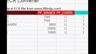 excel to provident fund ecr file converter