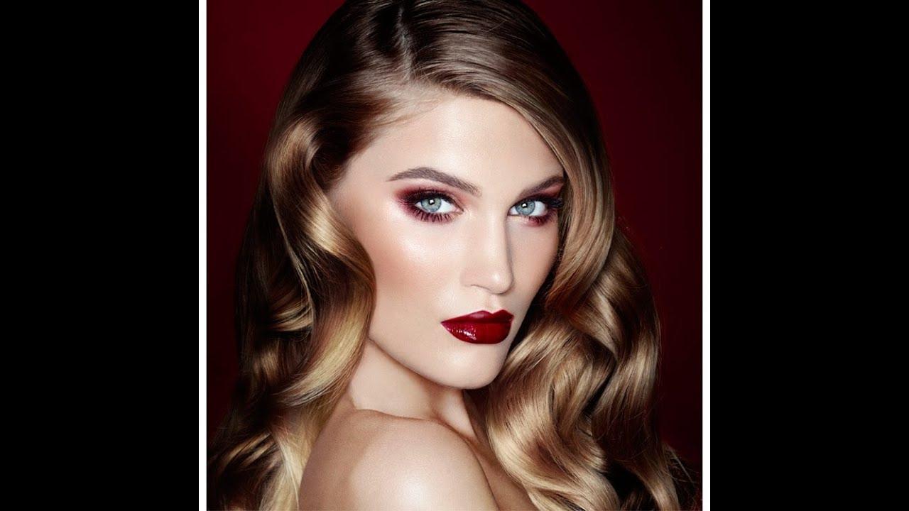 Vintage Vamp Fall Makeup Look Using Charlotte Tilbury