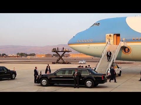 President Trump, US Presidential Plane Air Force One Landing at Nevada Air National Guard Base